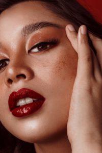 healthy foundation makeup and lipstick [inthusiasm makeup]